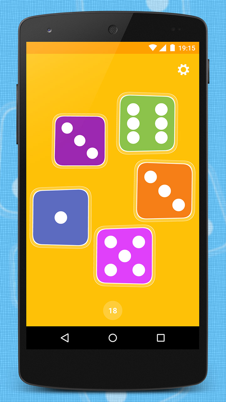 App with five dice