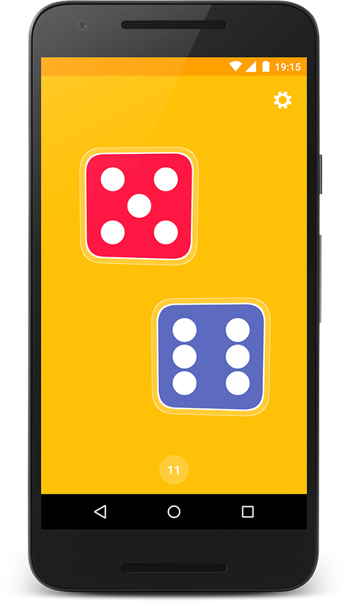 Dice App home screen