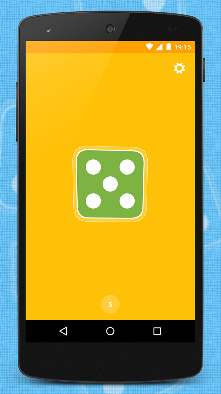 App with one dice