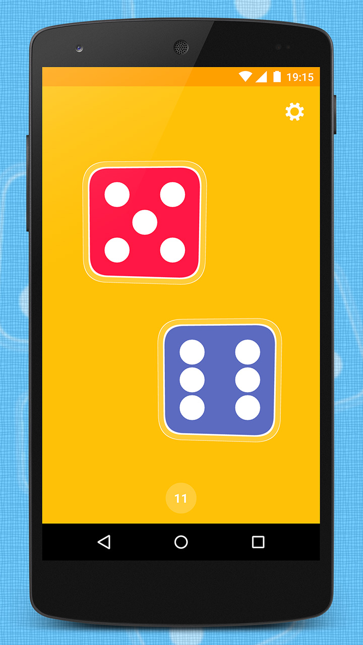 App with two dice